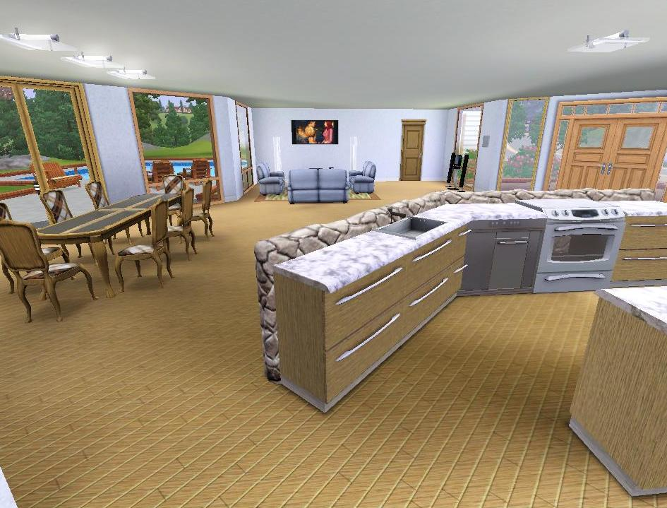 Amazing Mod The Sims Modern House For A Big Family With Modern Family  Dining Room