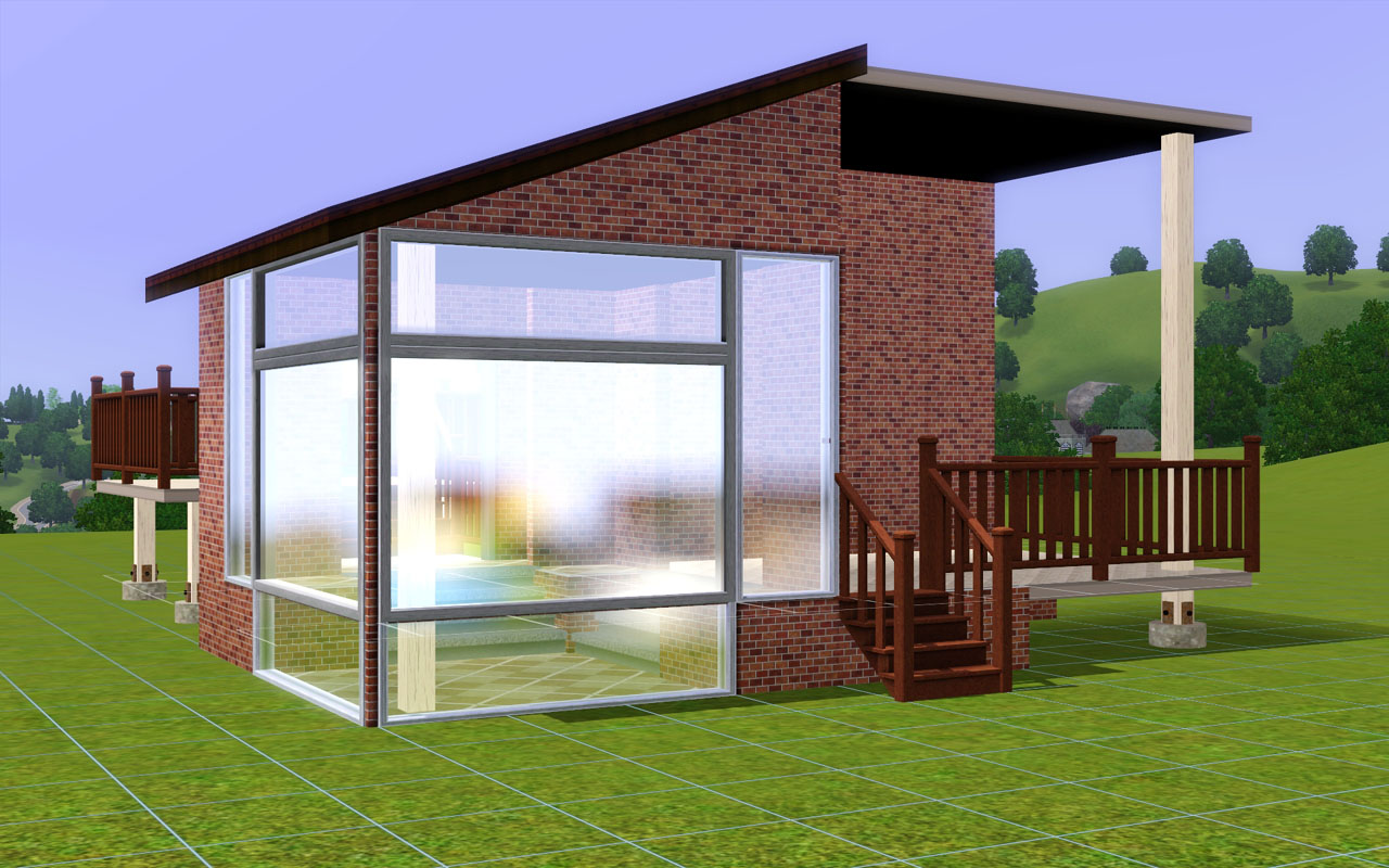 Mod the sims thin square column in fractional heights for Column house