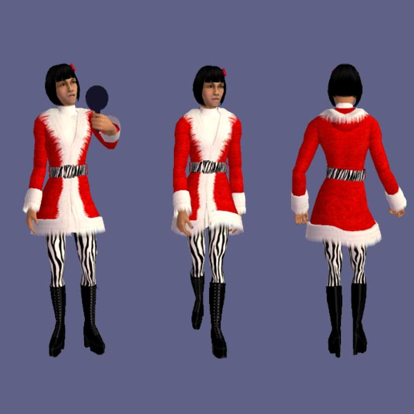 Rentwiki: Sims 4 Rent Project: Angel's Santa Outfit