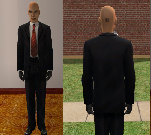 Mod The Sims Agent 47 Hitman Blood Money