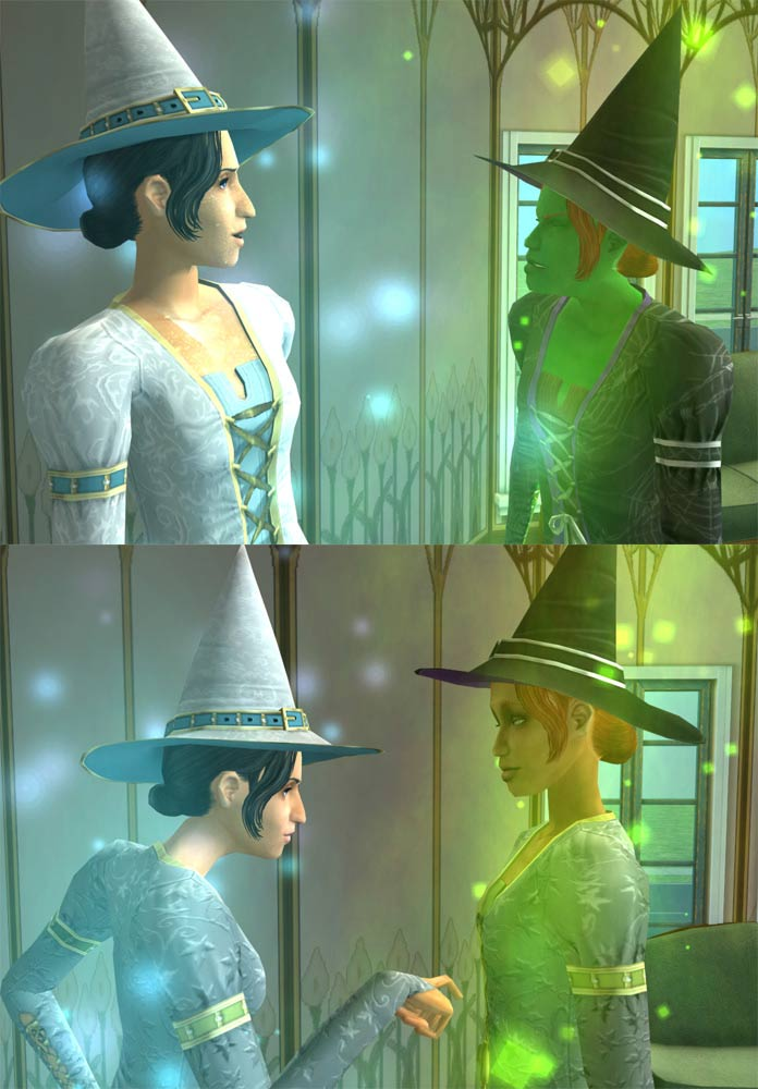 Mod The Sims Normal Skin For Good And Evil Witches Really Fixed Finally 07 Sept 08