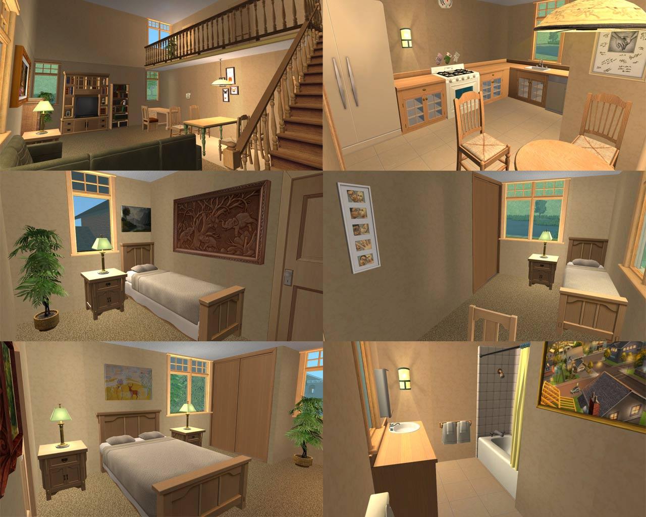 Как сделать комнату в симс 3