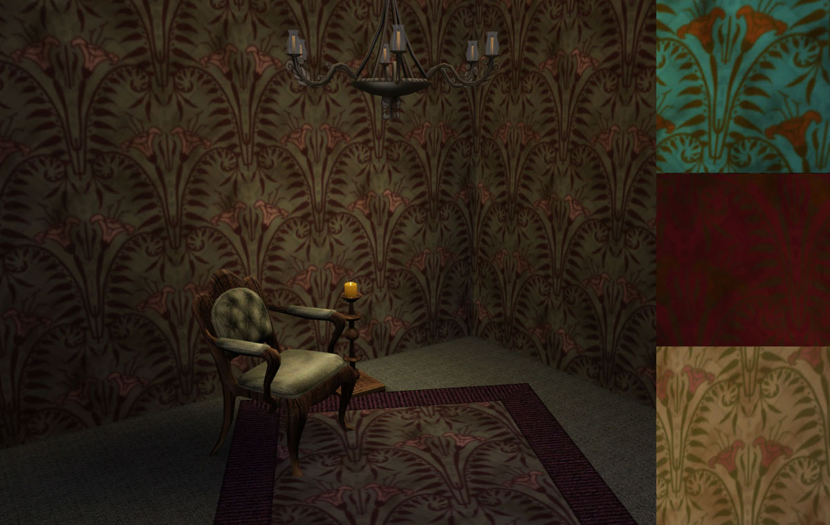 Mod the sims   haunted mansion patterns