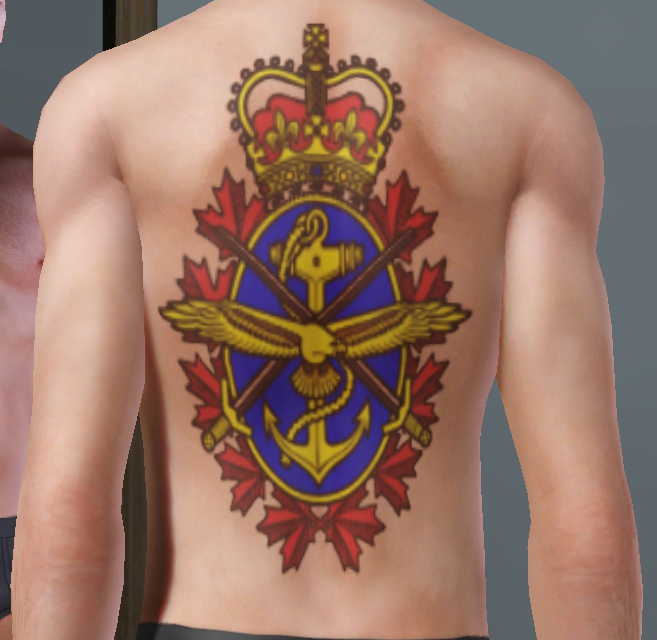 Mod The Sims The Patriotic Canadian Tattoo Pack
