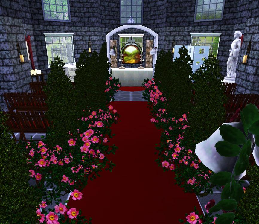 Wedding Altar In Sims 3: St Mary The City Church