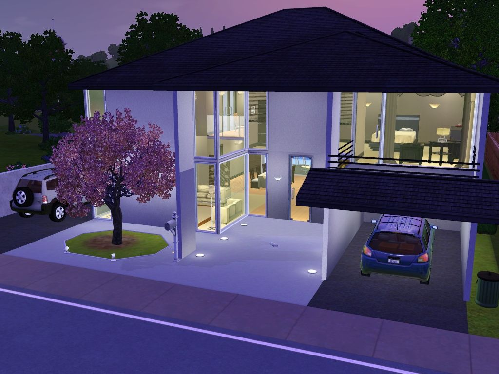 Mod the sims lightz on minimalist house on maywood lane for Minimalist house sims 2