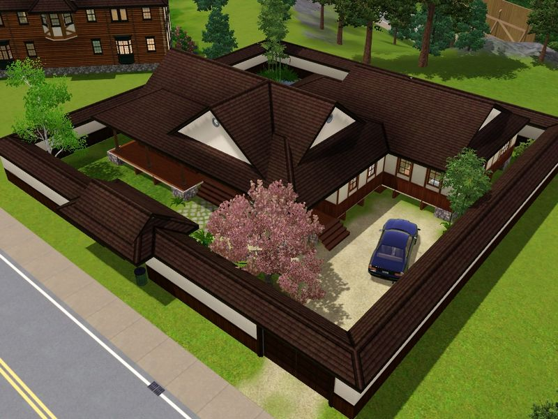 Mod the sims the yomoshoto residence a traditional for House designs zen type