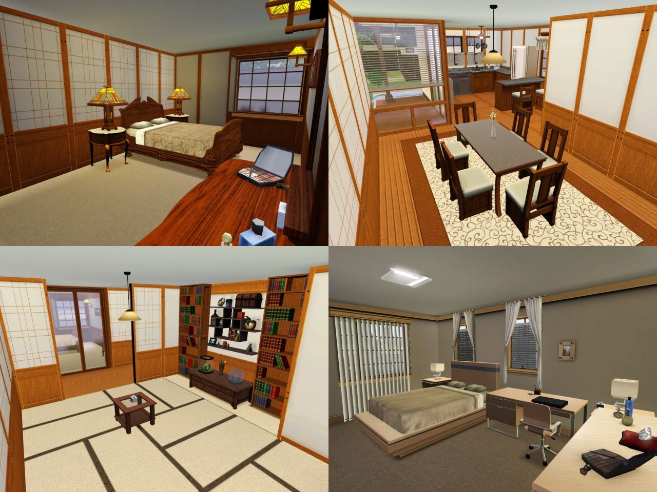 Sims 3 asian style house