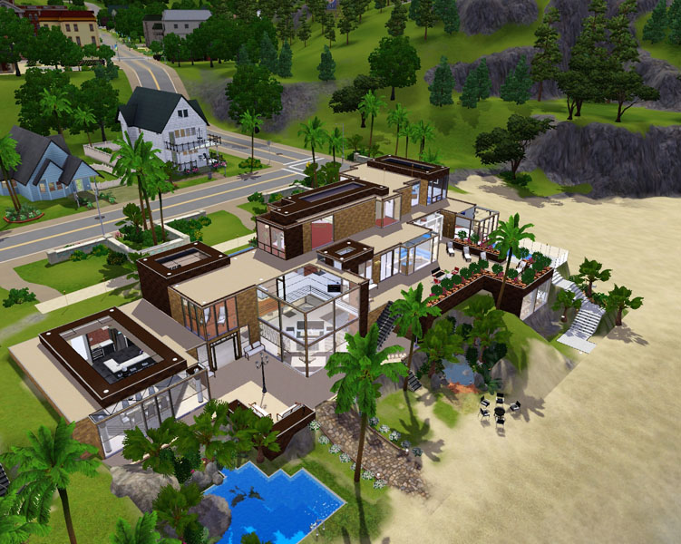he was working very hard and earning really big money there was nothing to do with them so he extended his house and upgrade it - Big Mansions With Pools On The Beach