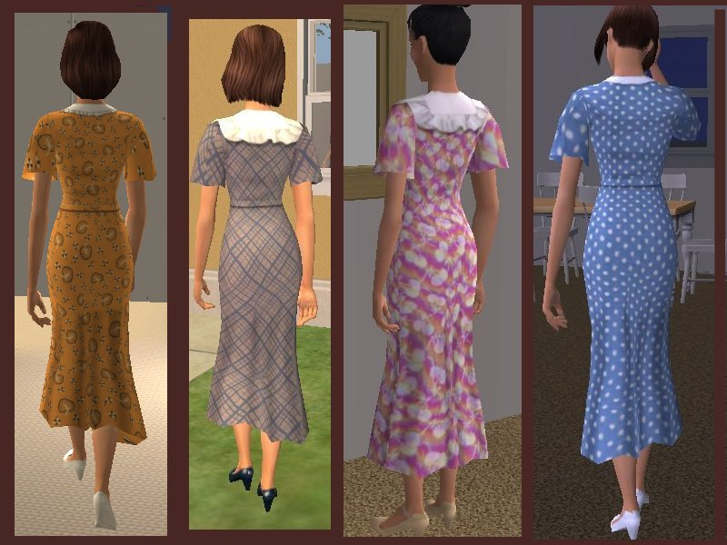 1930s dress styles