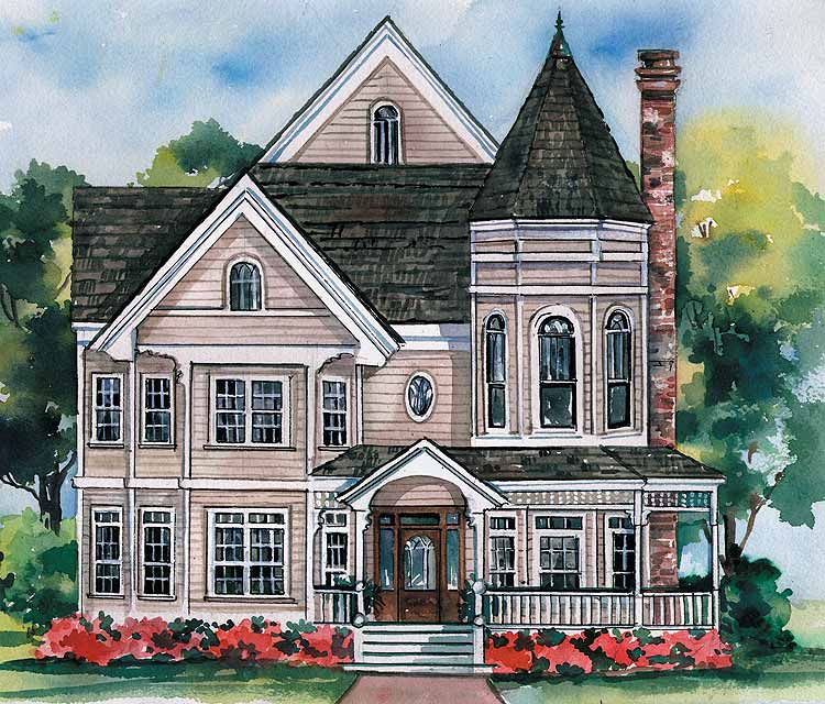 Mod the sims elegant victorian style house for Queen anne style house plans