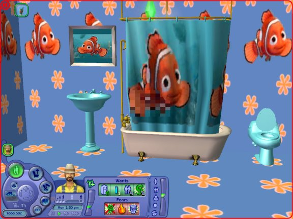 mod the sims testers wanted nemo bathroom set. Black Bedroom Furniture Sets. Home Design Ideas