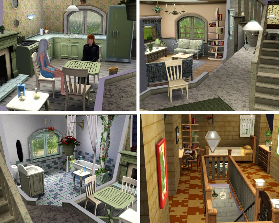 Mod The Sims Shell Cottage From Harry Potter