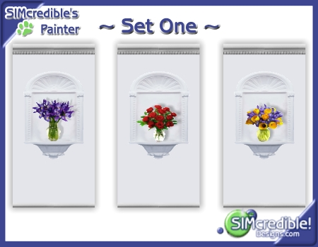 Mod The Sims - ~Wall Set~ Wall Niches w/ Flowers in Vase Flower Vase For Niches on us metalcraft vases, niche flower holders, cemetery vases, floral vases, niche wall art, graveside vases, bud vases,