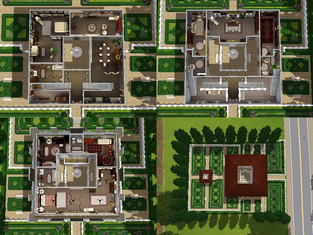 Mod the sims villa del doge an italian villa for Modern roman villa house plans