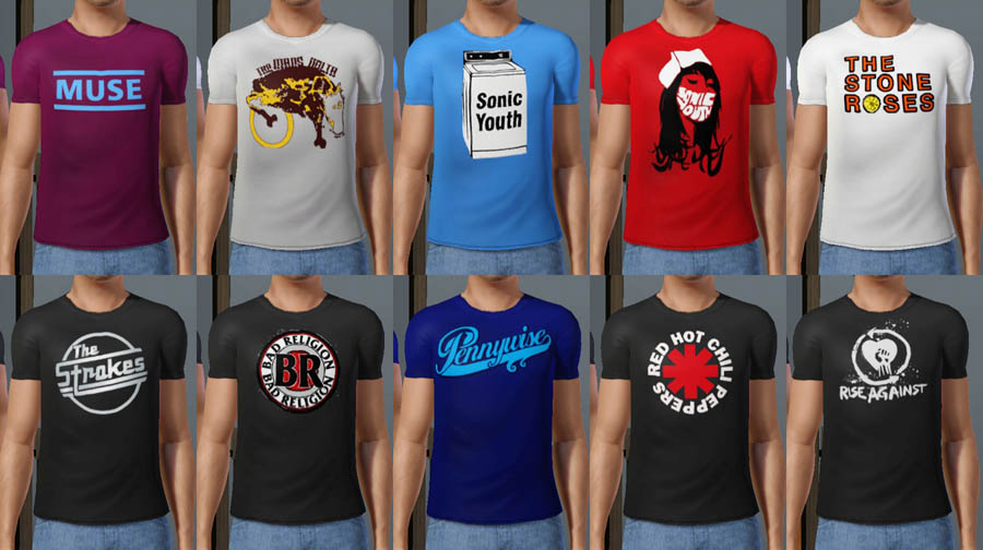 8ae5b1290 Mod The Sims - Rock Band T-Shirts for YA/Adult Males and Females ...