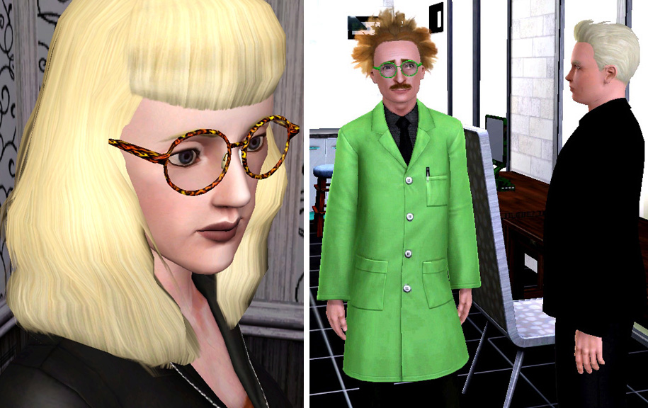 bf6b3af3771a Mod The Sims - Big Round Glasses for Men and Women - Teen to Elder ...
