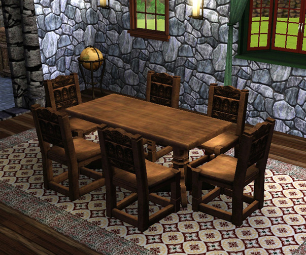 Mod The Sims Medieval Dining Table and Chairs Sims 2  : MTSEsmeralda 1074493 diningroompic from www.modthesims.info size 603 x 504 jpeg 175kB