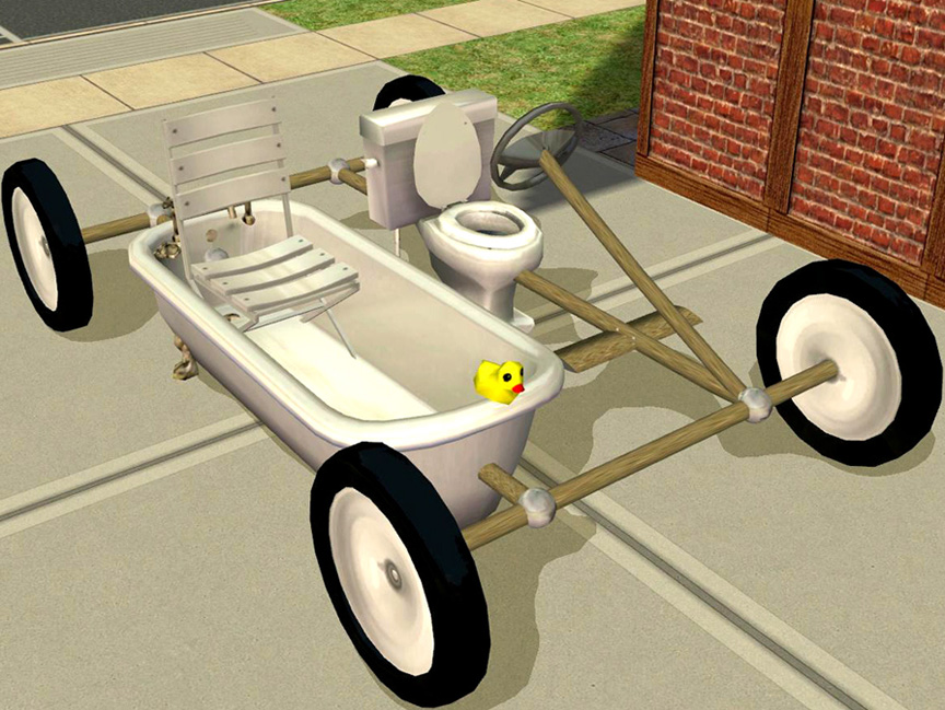 Mod The Sims - Cheap and Silly Transport for Crazy/Slobby