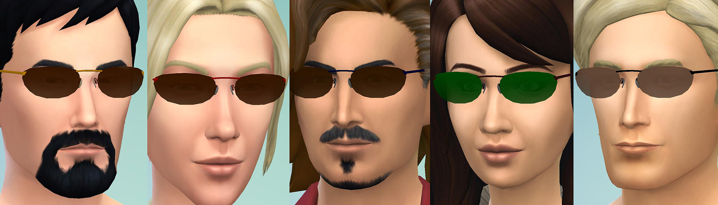 d805d2efde Mod The Sims - Matrix-ish Sunglasses  UPDATE March 2 2016 - Closer fit