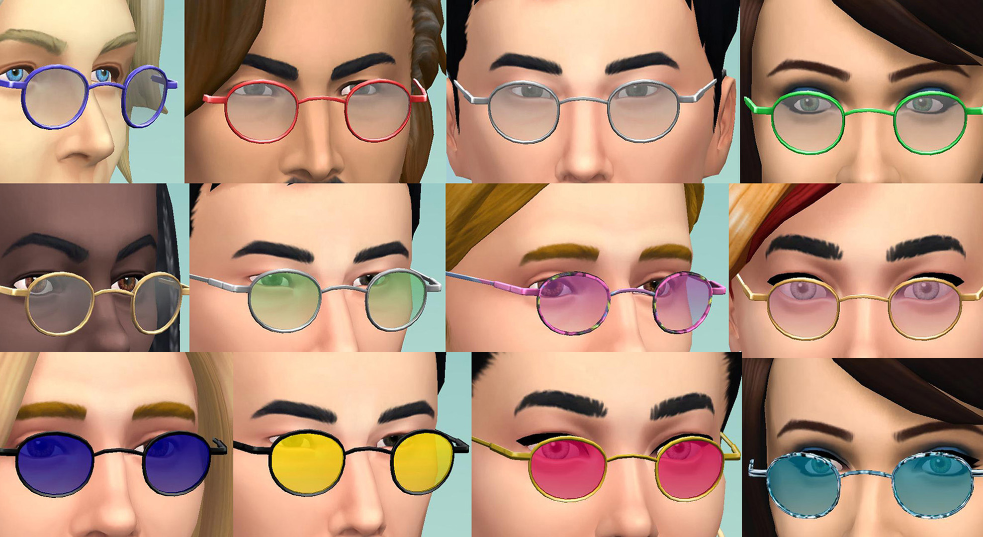 Mod The Sims Small Round Glasses And Shades