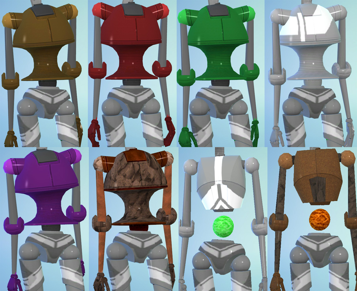 Mod The Sims - Plumbots from TS3: 13 Parts to Mix + Match