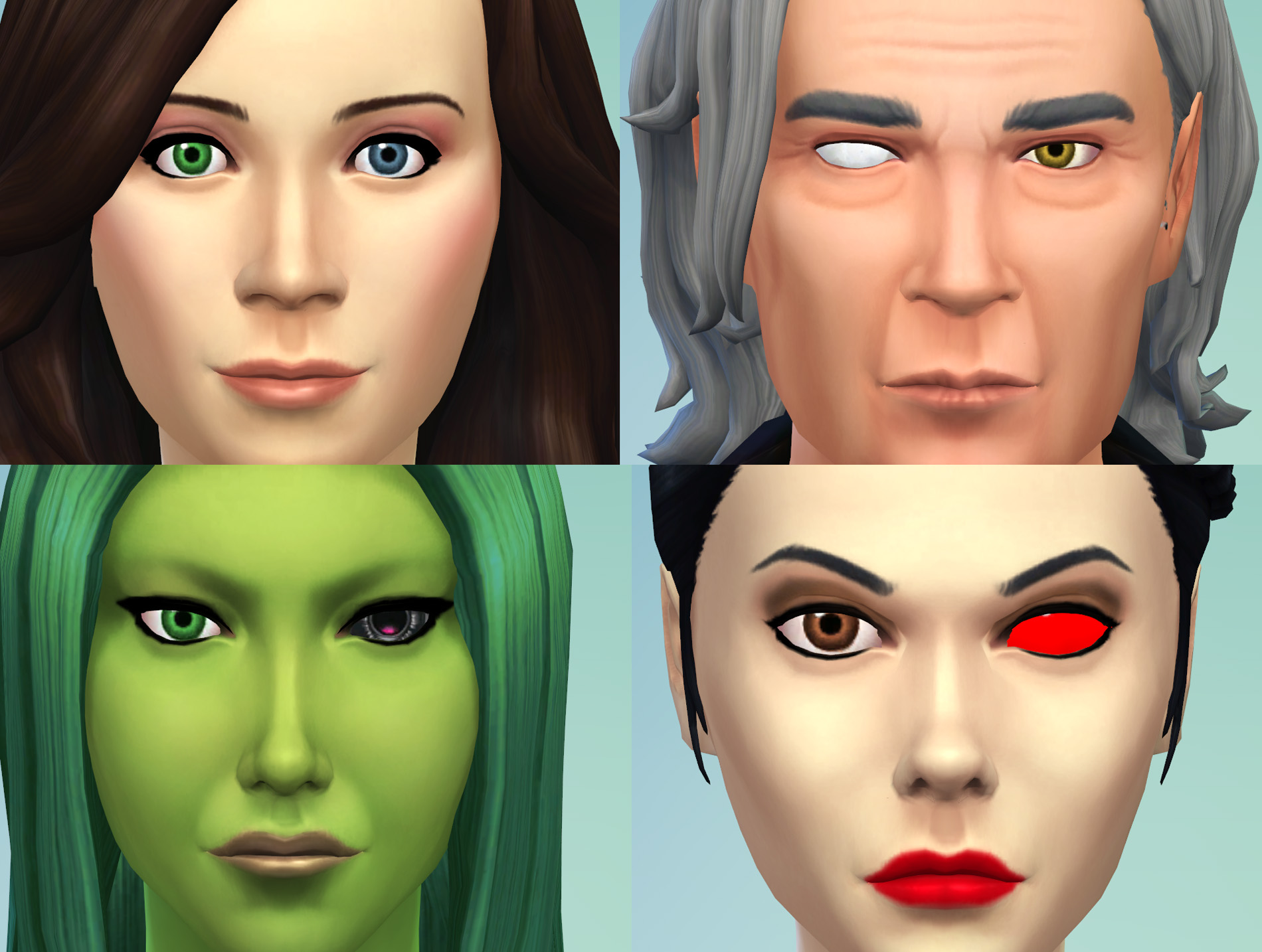 Mod The Sims 2 Different Eyes Heterochromia Blind Eye Sci Fi