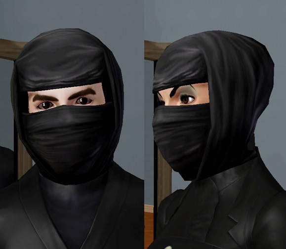 Mod The Sims Sims 2 Ninja Mask For Men And Women Teen