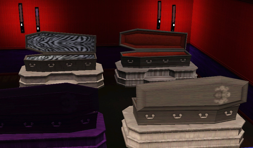 Mod The Sims A Bed for your Vampires Sims 2 Conversion : MTSEsmeraldaF 1074942 4xrecolourswithbackview from modthesims.info size 864 x 504 jpeg 120kB