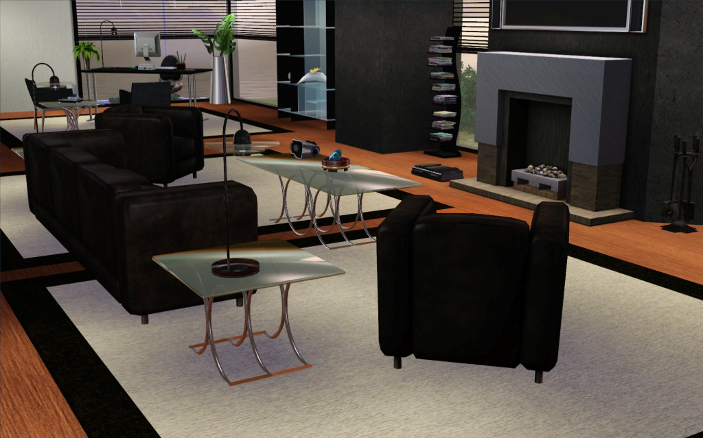 Mod The Sims Smoked Glass Coffee Tables