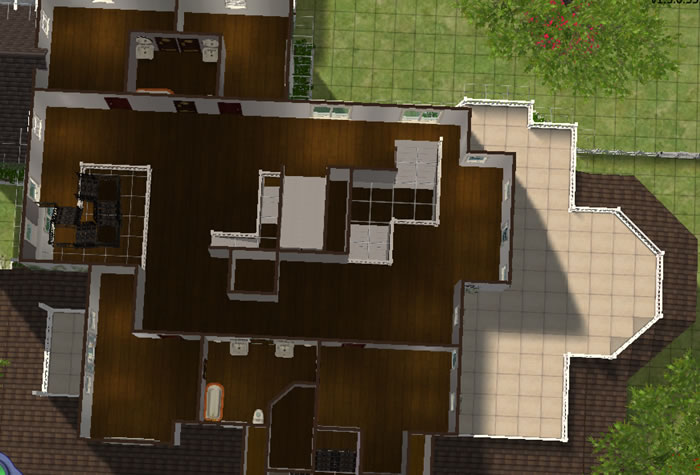 Mod the sims practical magic the owens house for Practical home plans