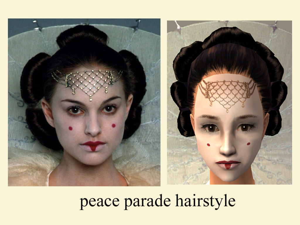 Mod The Sims The Peace Parade Hairdo For Queen Amidala