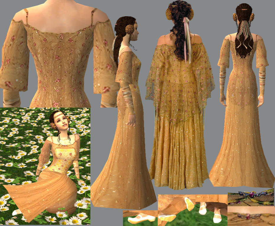 Mod The Sims - Padme\'s Picnic Gown