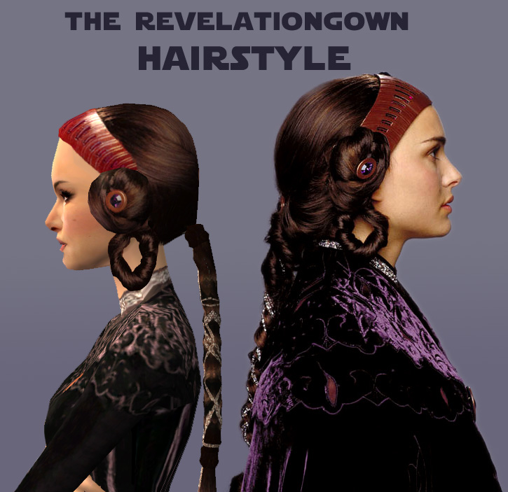 party hairstyles for medium length hair : Mod The Sims - The Revelationgown Hairstyle for Padme
