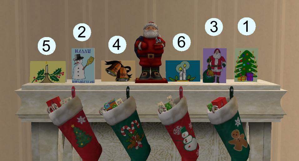 Mod The Sims - Six Christmas Greetings Cards
