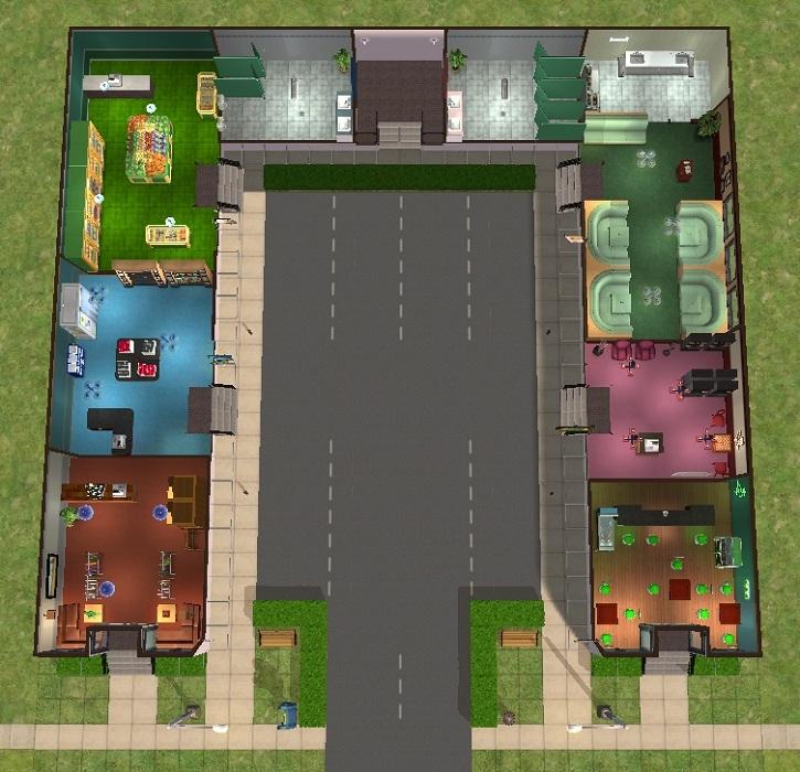 mod the sims parcheggio mall
