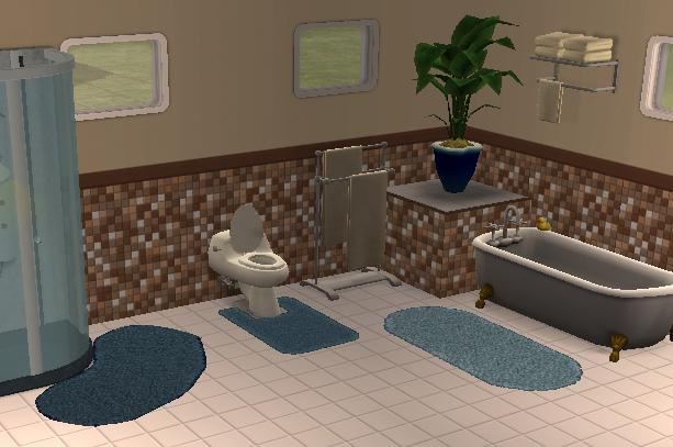 Mod The Sims & Mod The Sims - The Thirstiest Bath Mats - REAL puddle suckers