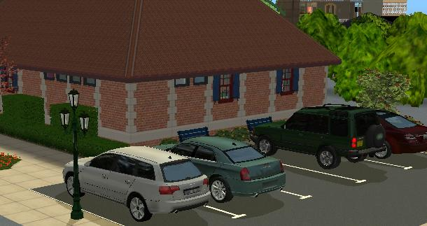 This Object Is A Decorative Parking Space When Placed On Lot It Will Randomly Generate Car Parked In The
