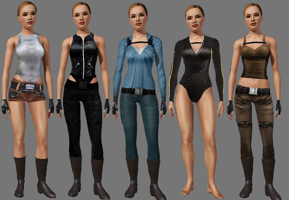 Mod the sims tomb raider outfits