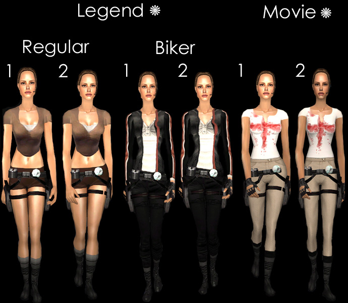 6 Tomb Raider Outfits