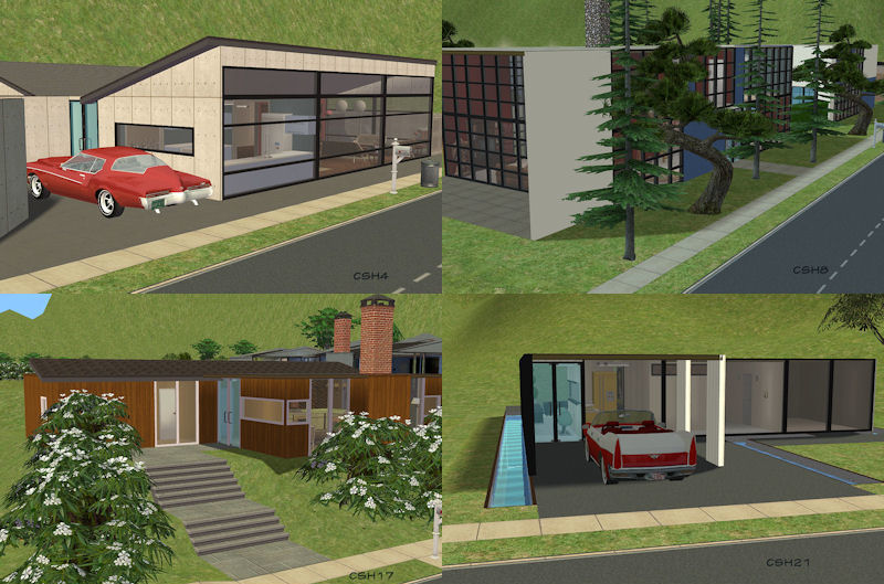 Mod the sims the case study house program 35 modernist for Case the sims 3 arredate