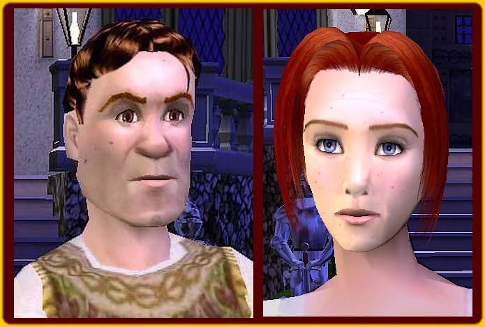 Mod The Sims - Shrek and Fiona, human form, from movie Shrek2.
