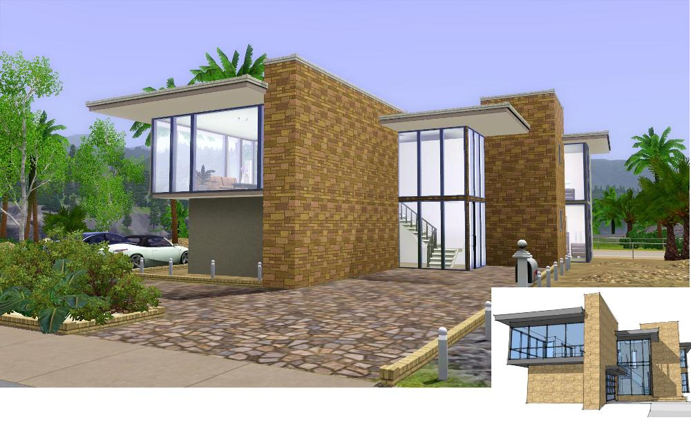 Mod the sims another modern beach home for Beach house designs for sims 3