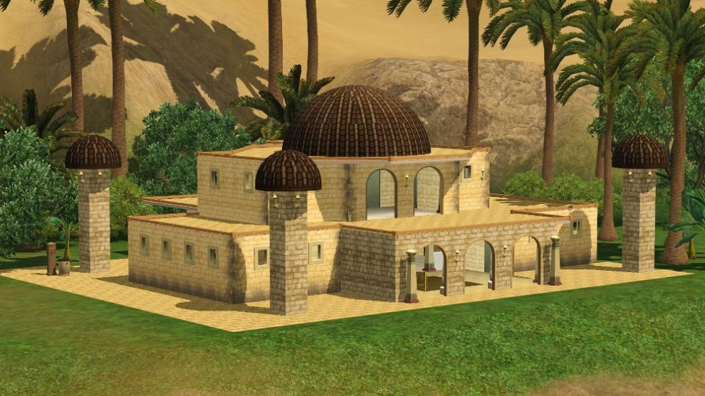 Mod the sims egyptian wonder for 3 4 house