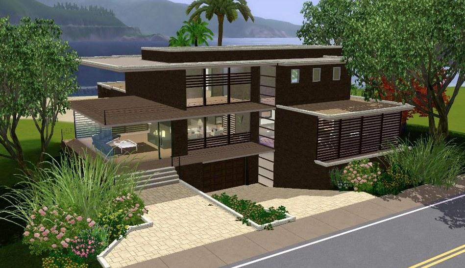 Sims 3 Modern Mansion Floor Plans: Aleya Modern
