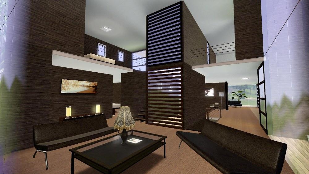 Sims 3 modern bedroom for Really big modern houses
