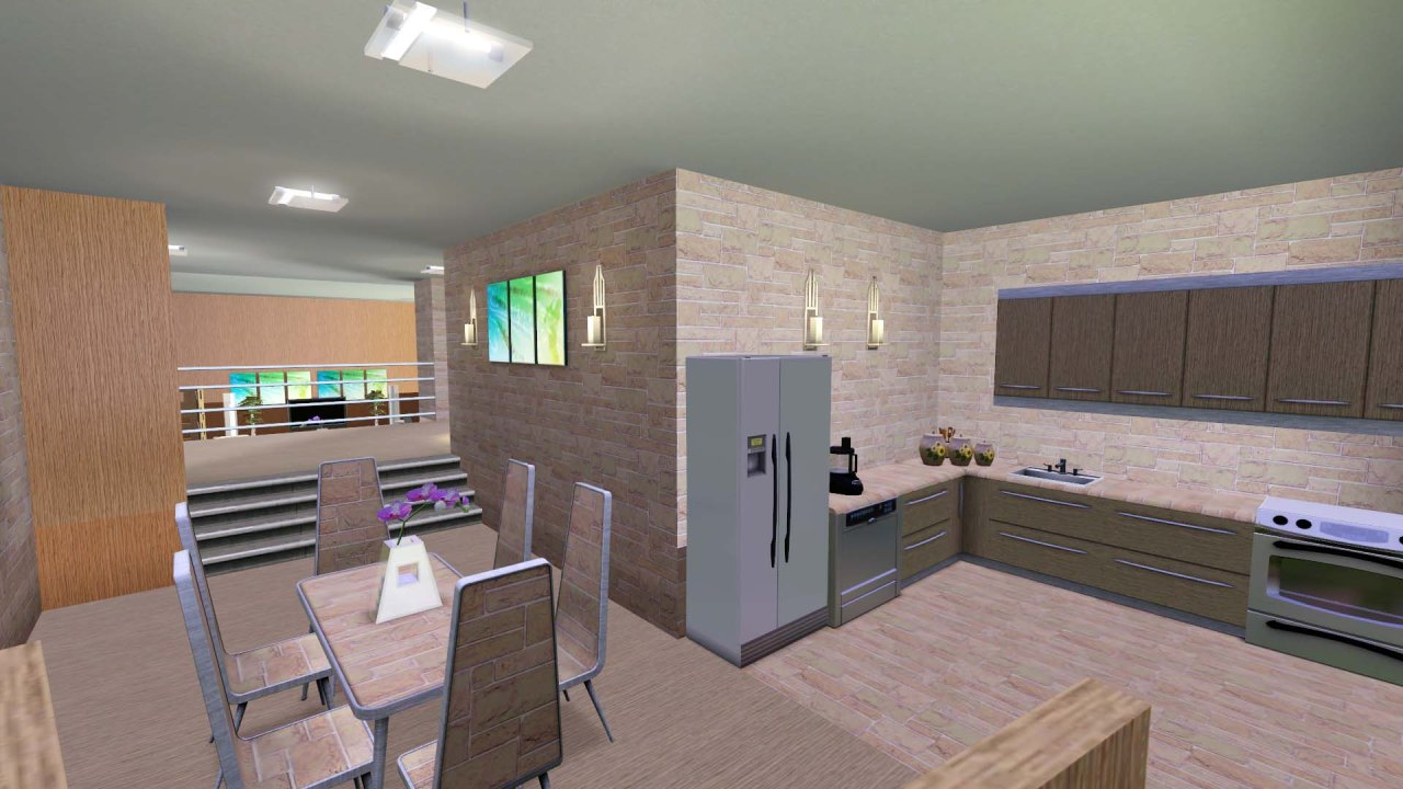 Mod the sims light modern by rosalie q for Sims 2 kitchen ideas