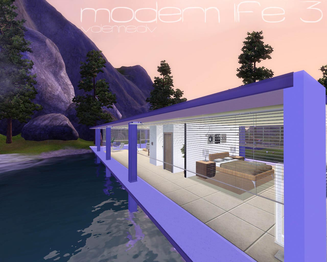 Mod the sims modern life 3 for Sims 3 salon moderne