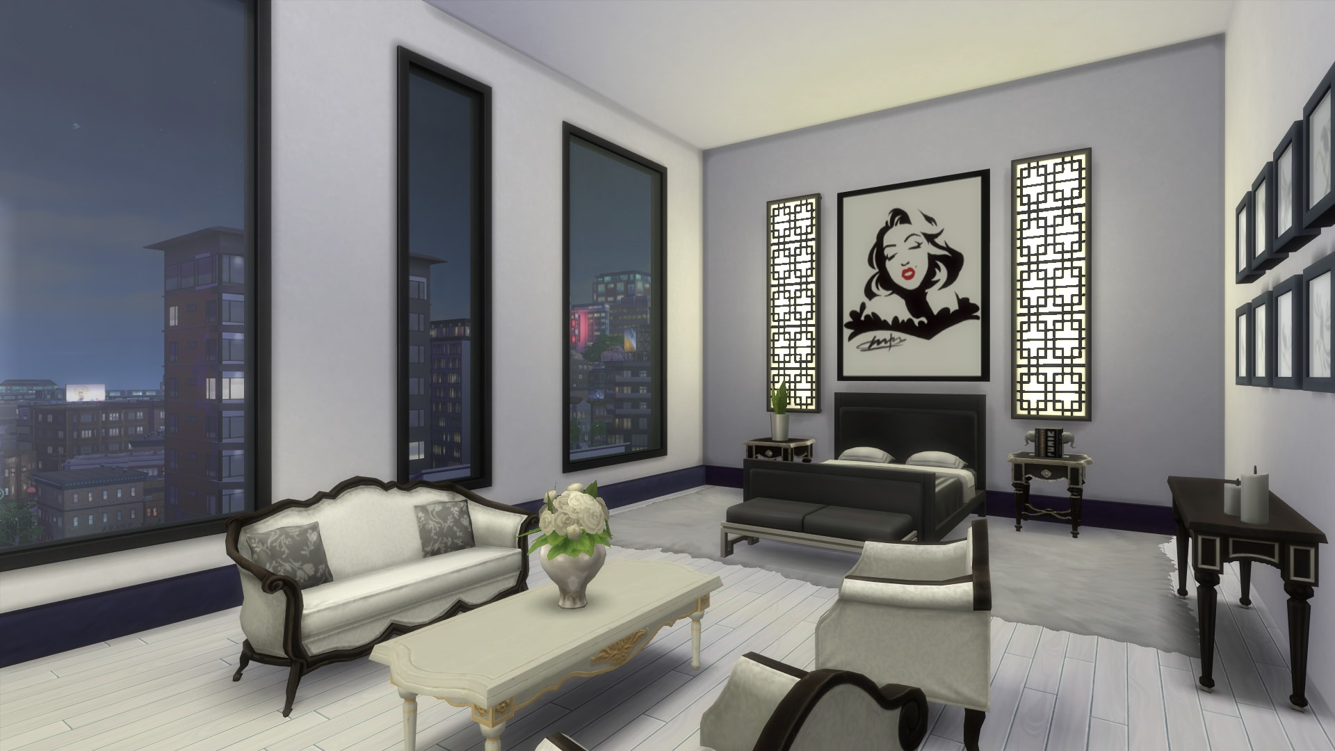 Mod the sims old hollywood glamour penthouse no cc for Sims 3 master bedroom ideas