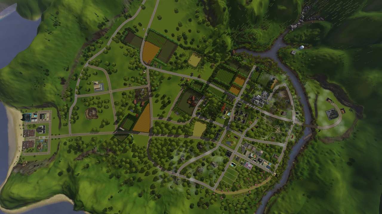Mod the sims riverblossom hills world and population updated map size large gumiabroncs Choice Image